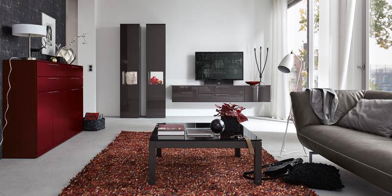Musterringmöbel im Wohnzimmer fotografiert