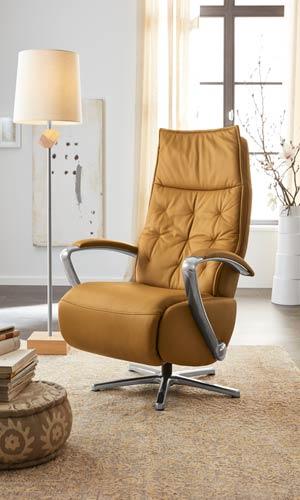 Musterring Sessel MR 9810 in gelbem Leder