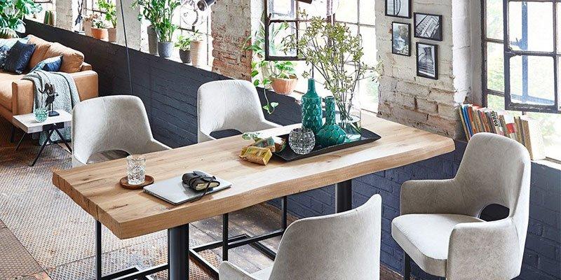 Barhocker und Tisch Ica von Styles United im Industrial Look