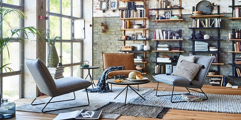 Styles United Sessel Pino im Wohnzimmer