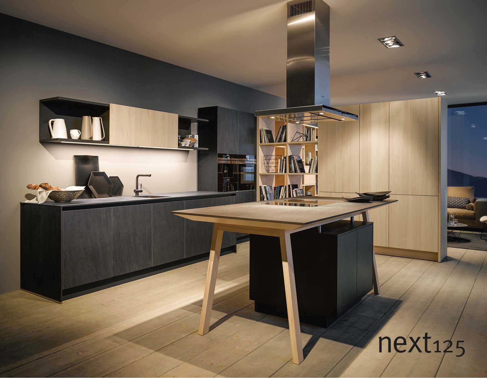 next125 Küche Keramik-Front nx950 in grafit