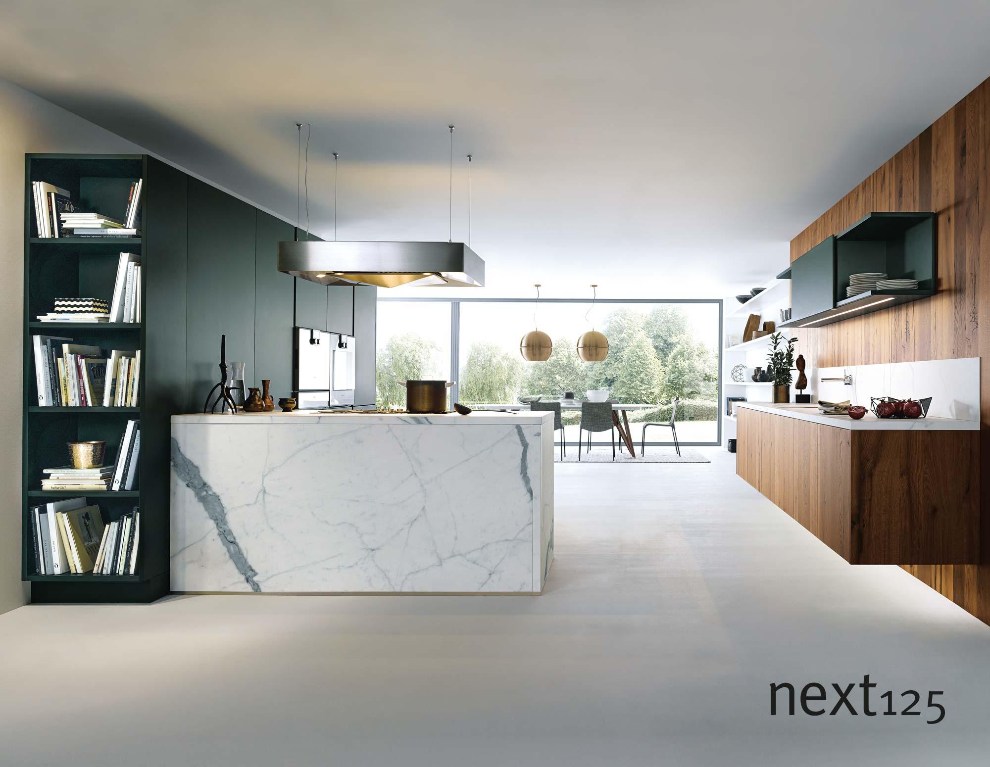 next125 Küche Satinlack-Front nx500 in jaguargrün