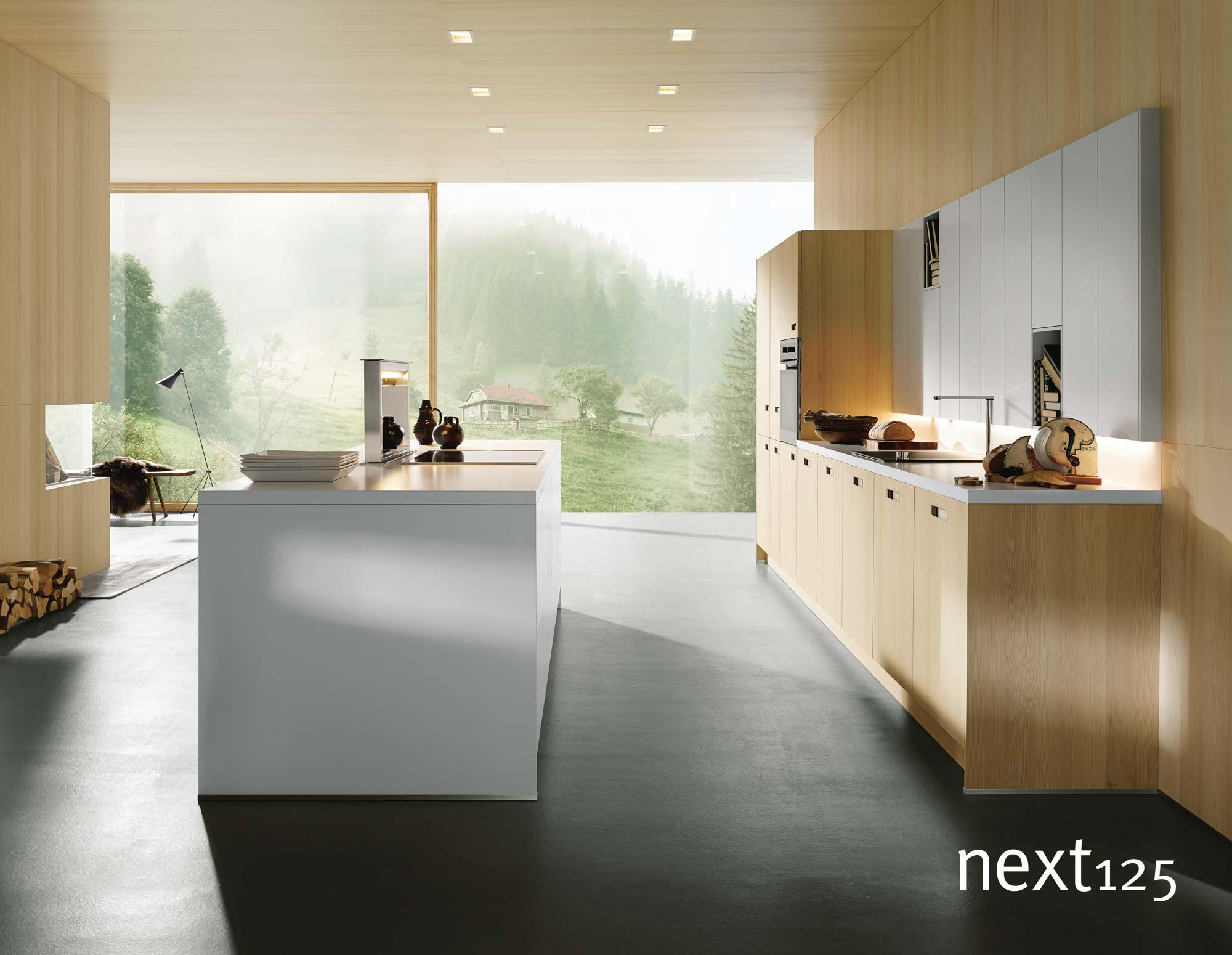 next125 Küche Holz-Front nx620 in Tanne natur gebürstet