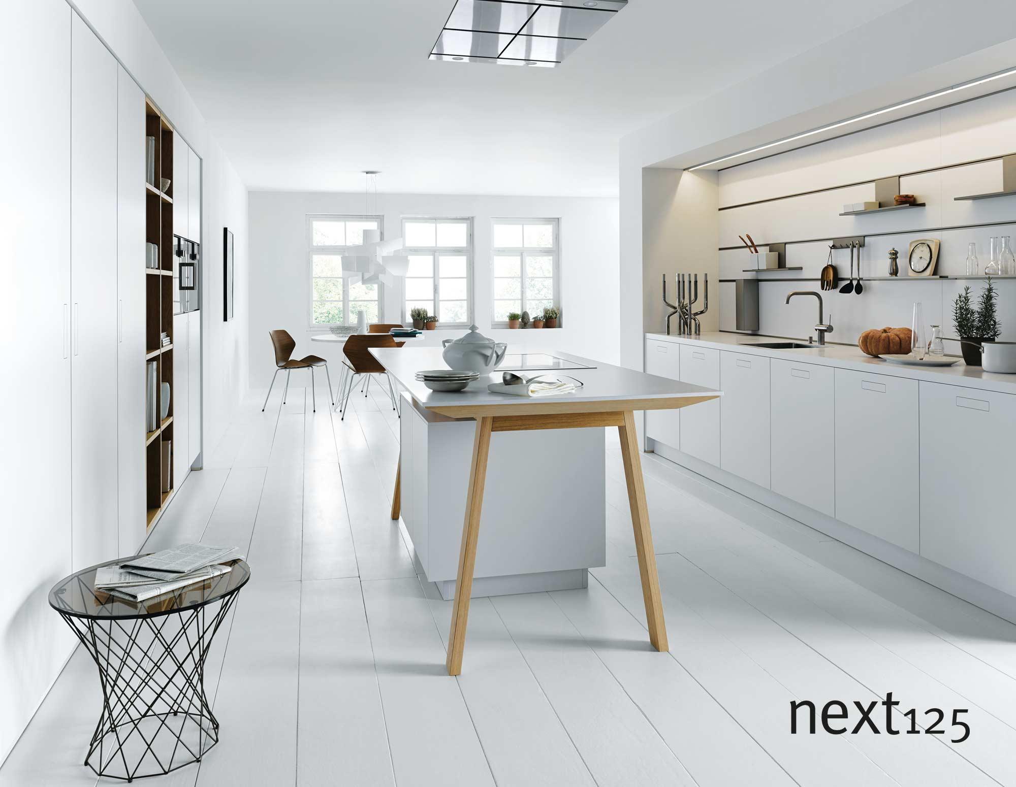 next125 Küche Schichtstoff-Front nx800 in weiß
