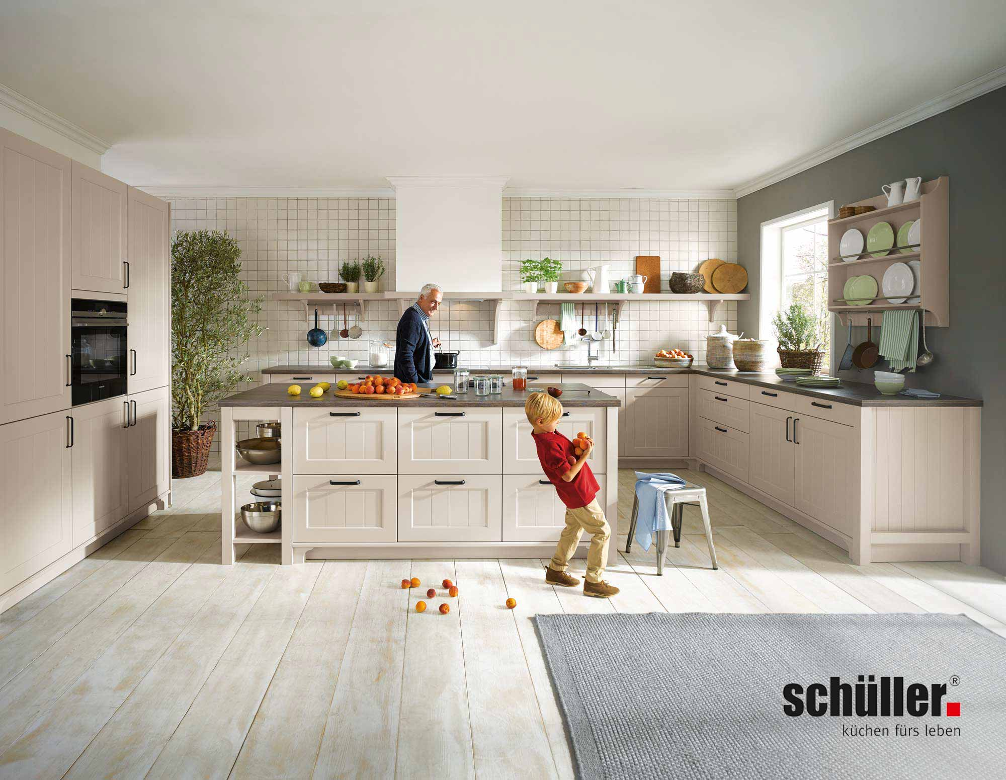 Schüller Canto Landhausküche in Lack cremefarben