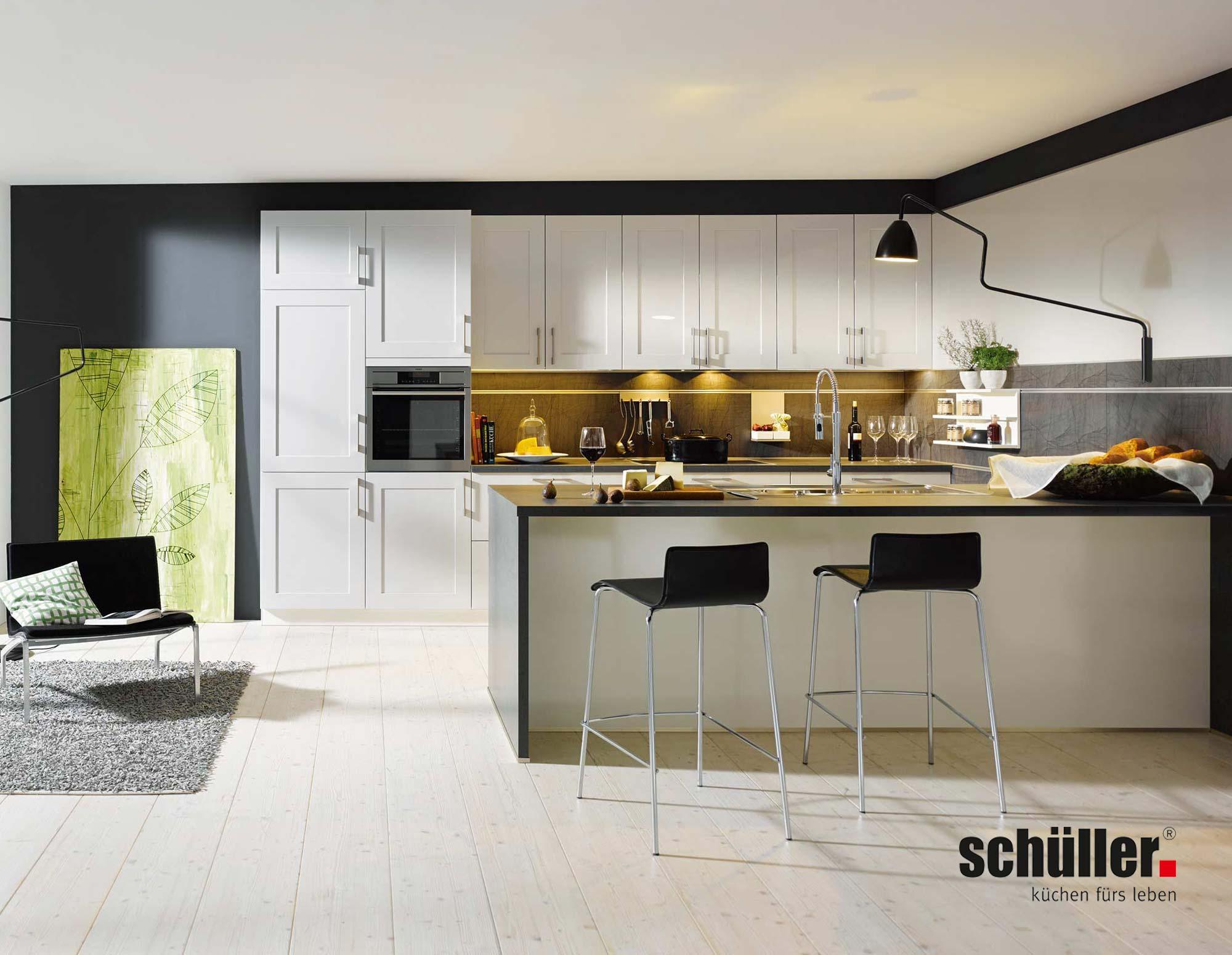 Schüller Malta Wohnküche in Grau