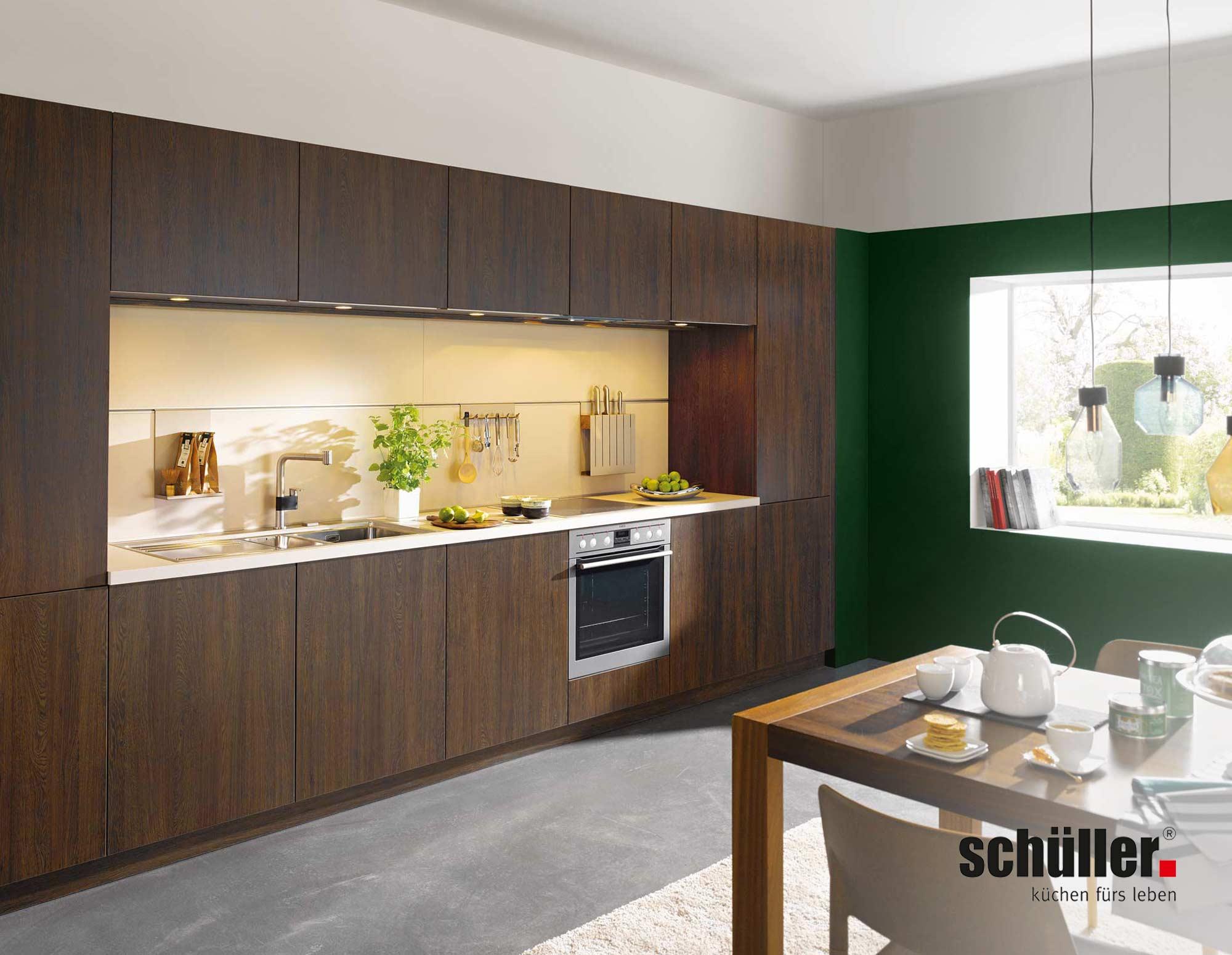 Schüller Cremona Küchenzeile in Eiche Nachbildung