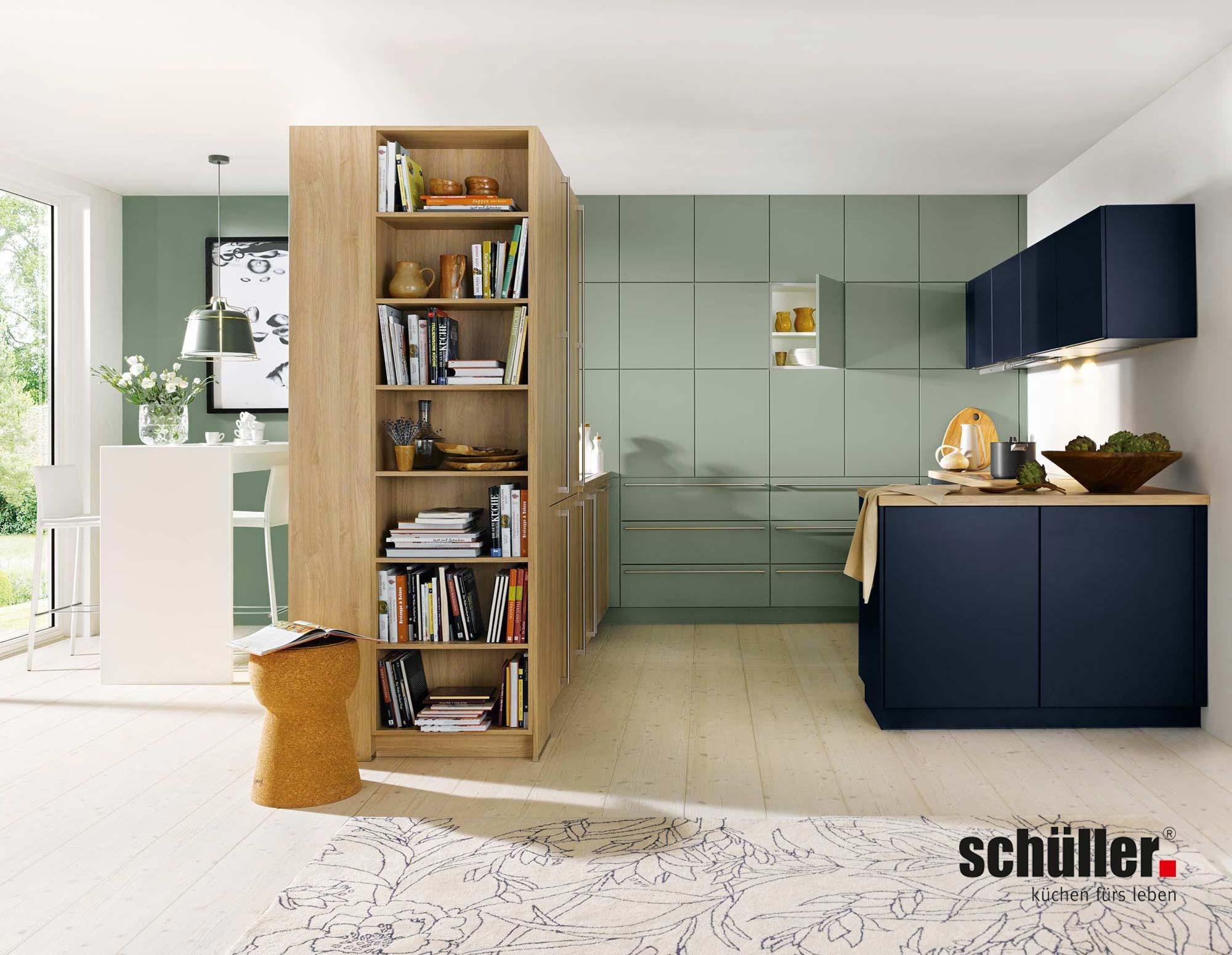 Schüller Bari Wohnküche in Eiche Nachbildung
