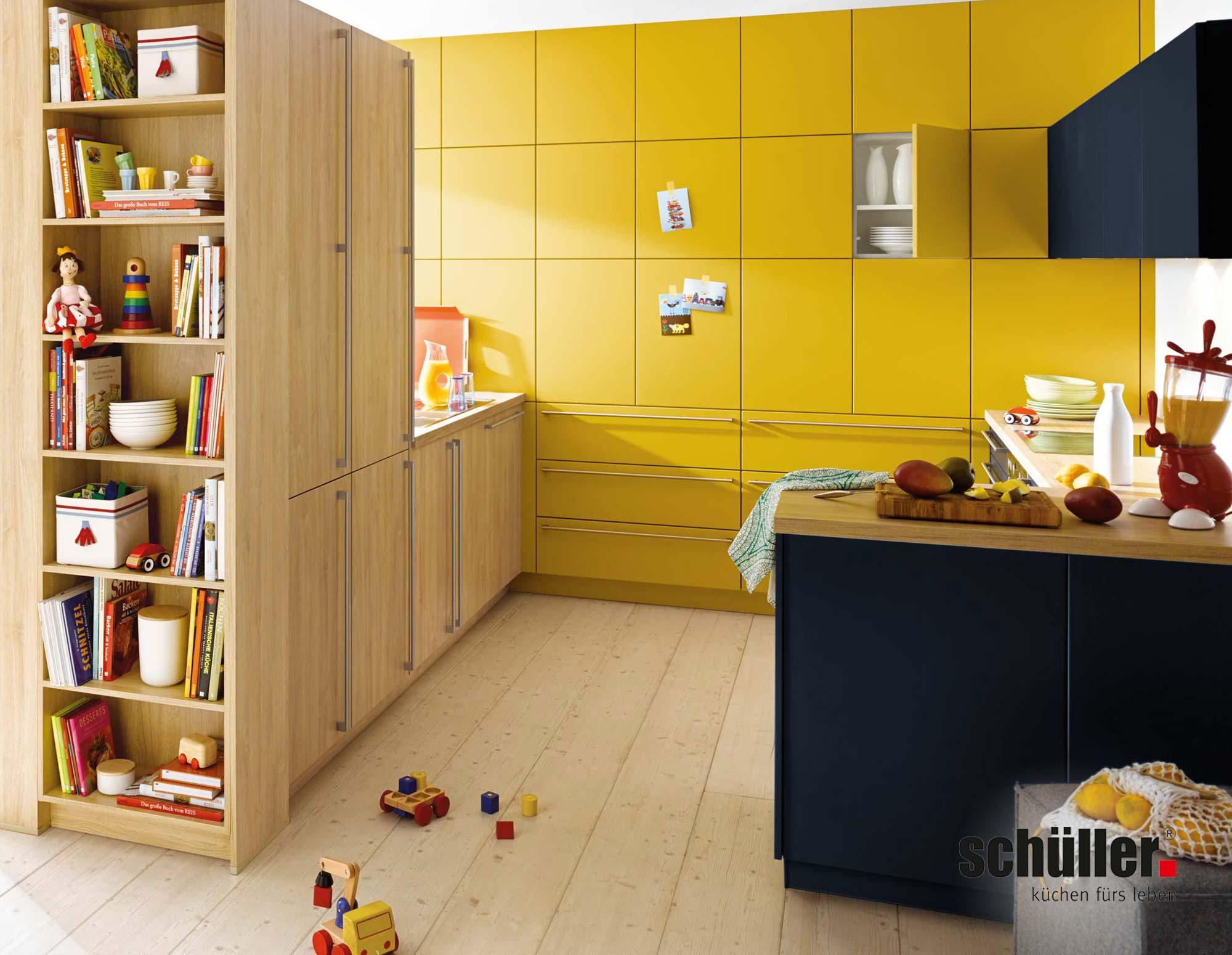 Schüller Biella Wohnküche in Gelb