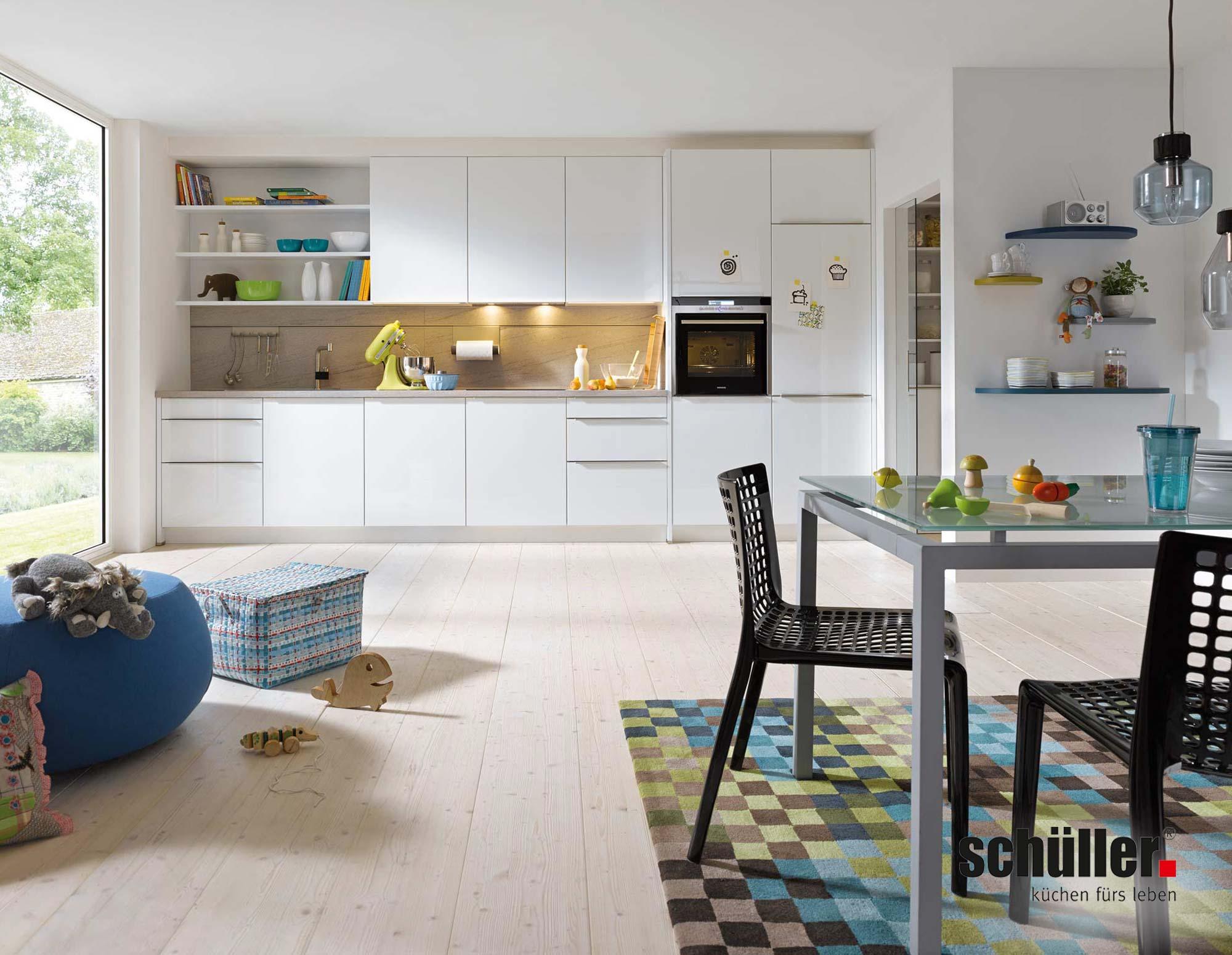 Schüller Gala Wohnküche in weiß