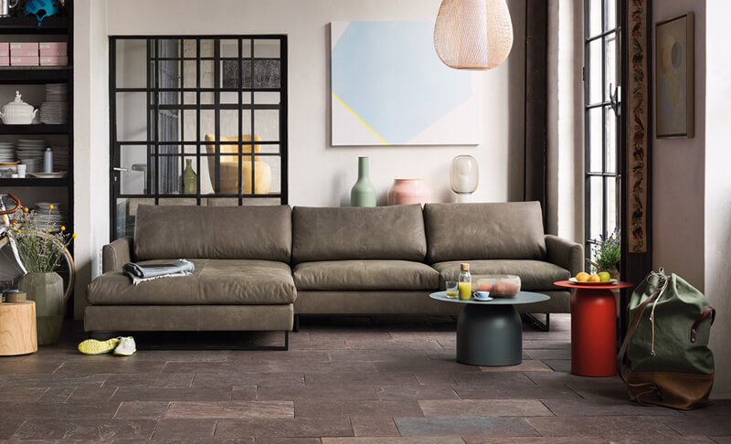 Freistil Sofa 134 von Rolf Benz, Ledersofa
