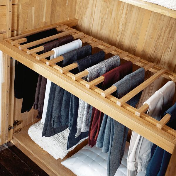 Kleiderschrank Natura, Hosenhalter, Ordnung, Inneneinteilung