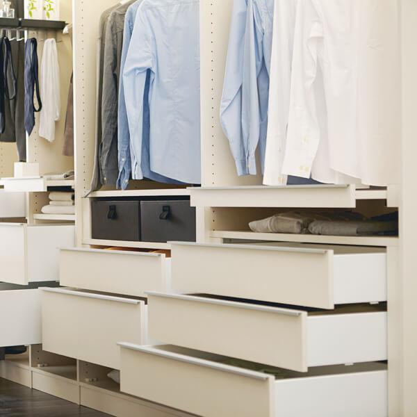 Kleiderschrank Natura Colorado, Schubladen, Ordnung, Ankleide, Inneneinteilung