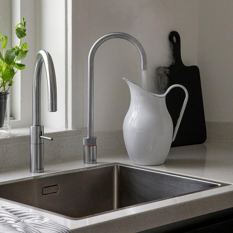 Quooker Nordic, Wasserhahn, Mischbatterie, kochendes Wasser