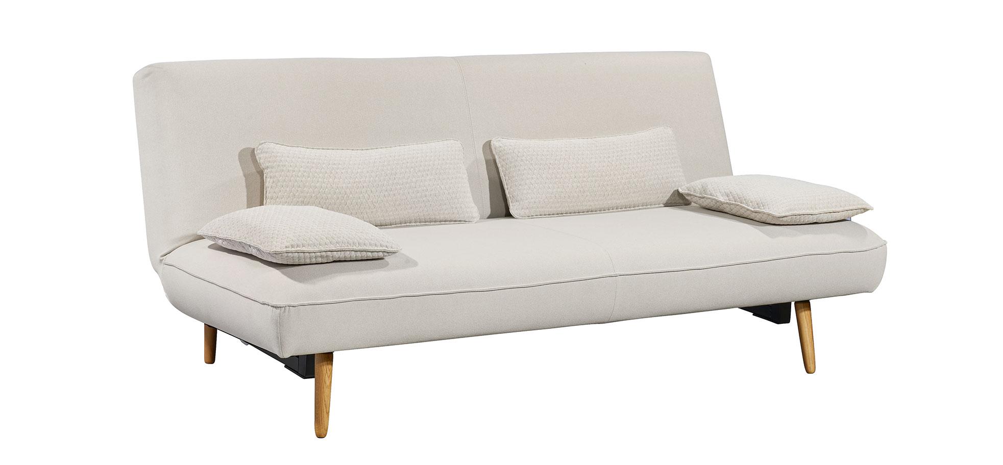 Modernes Schlafsofa Musterring MR 880 in Stoff weiß mit Schlaffunktion