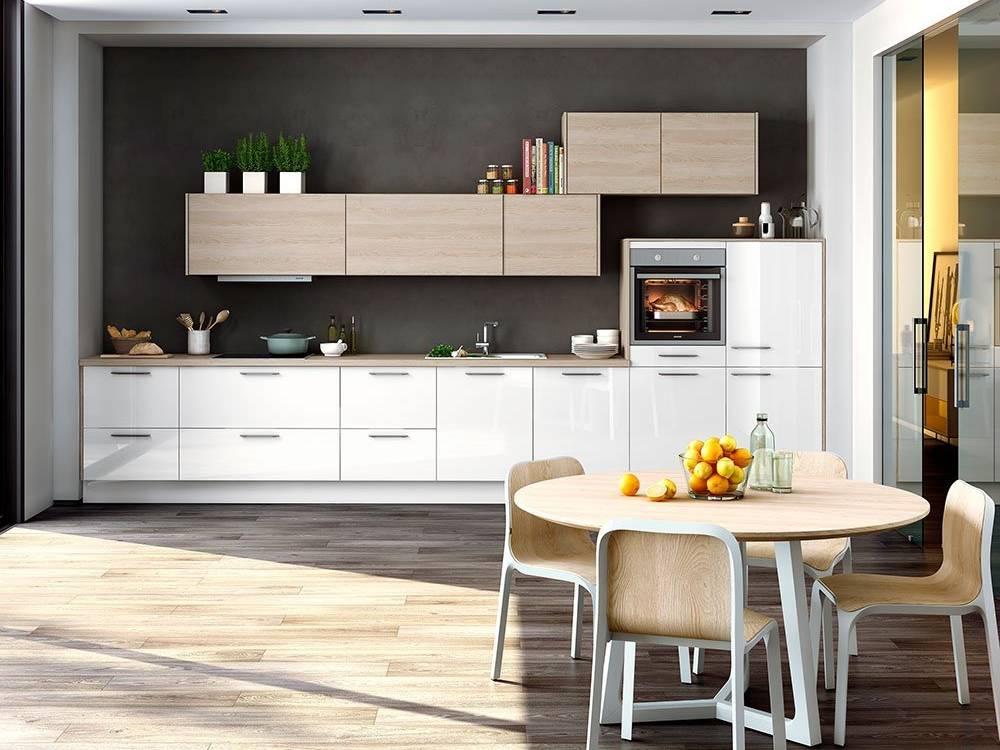 Küchenzeile Marke Global Küchen in weiß mit Hochglanzfronten