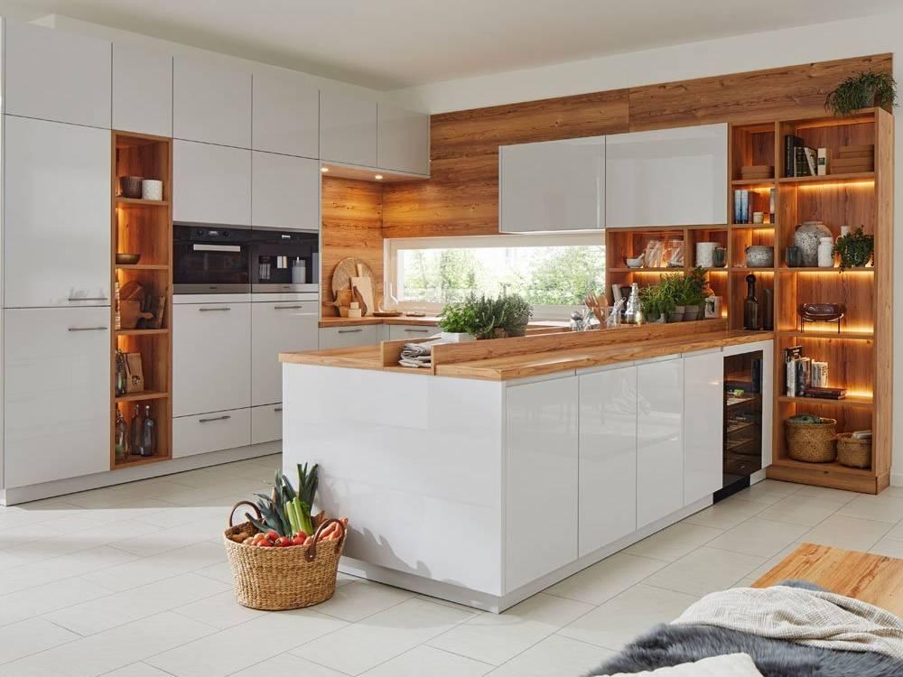 Wohnküche Marke Global 56.100-56.150 Küche in Lack kristallgrau Hochglanz