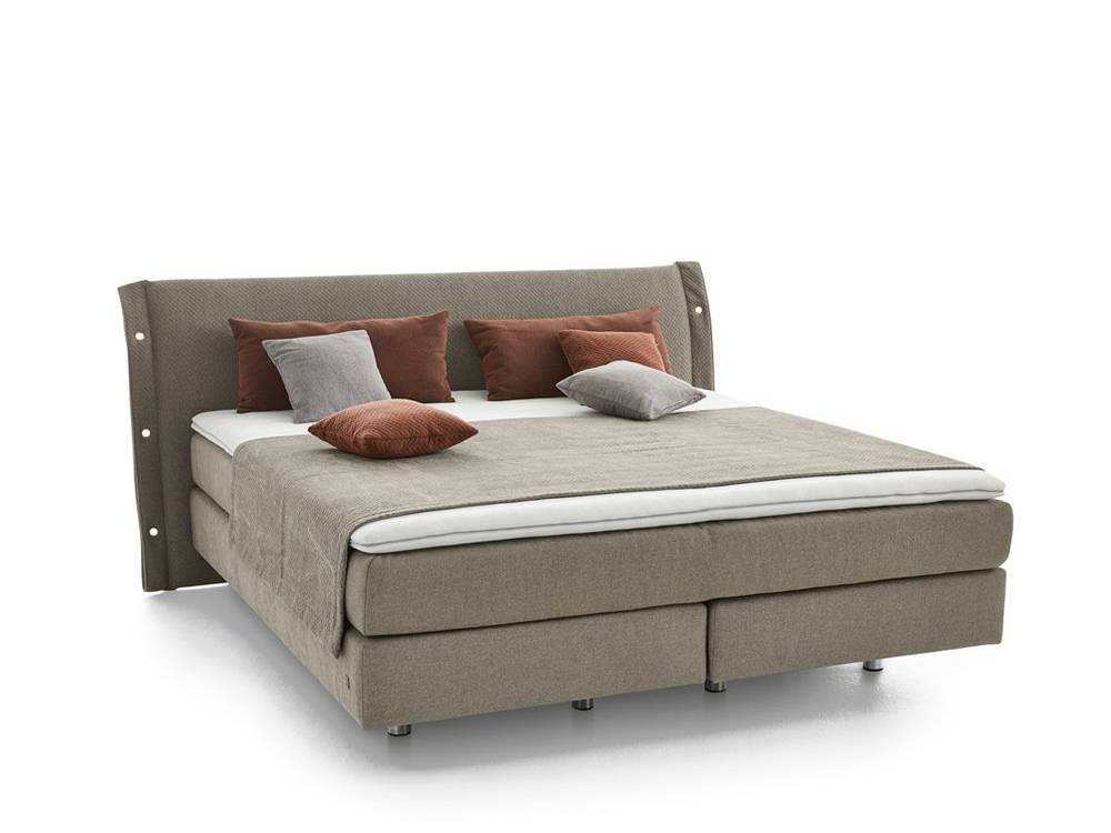 Musterring Evolution Select Boxspringbett in Stoff grau