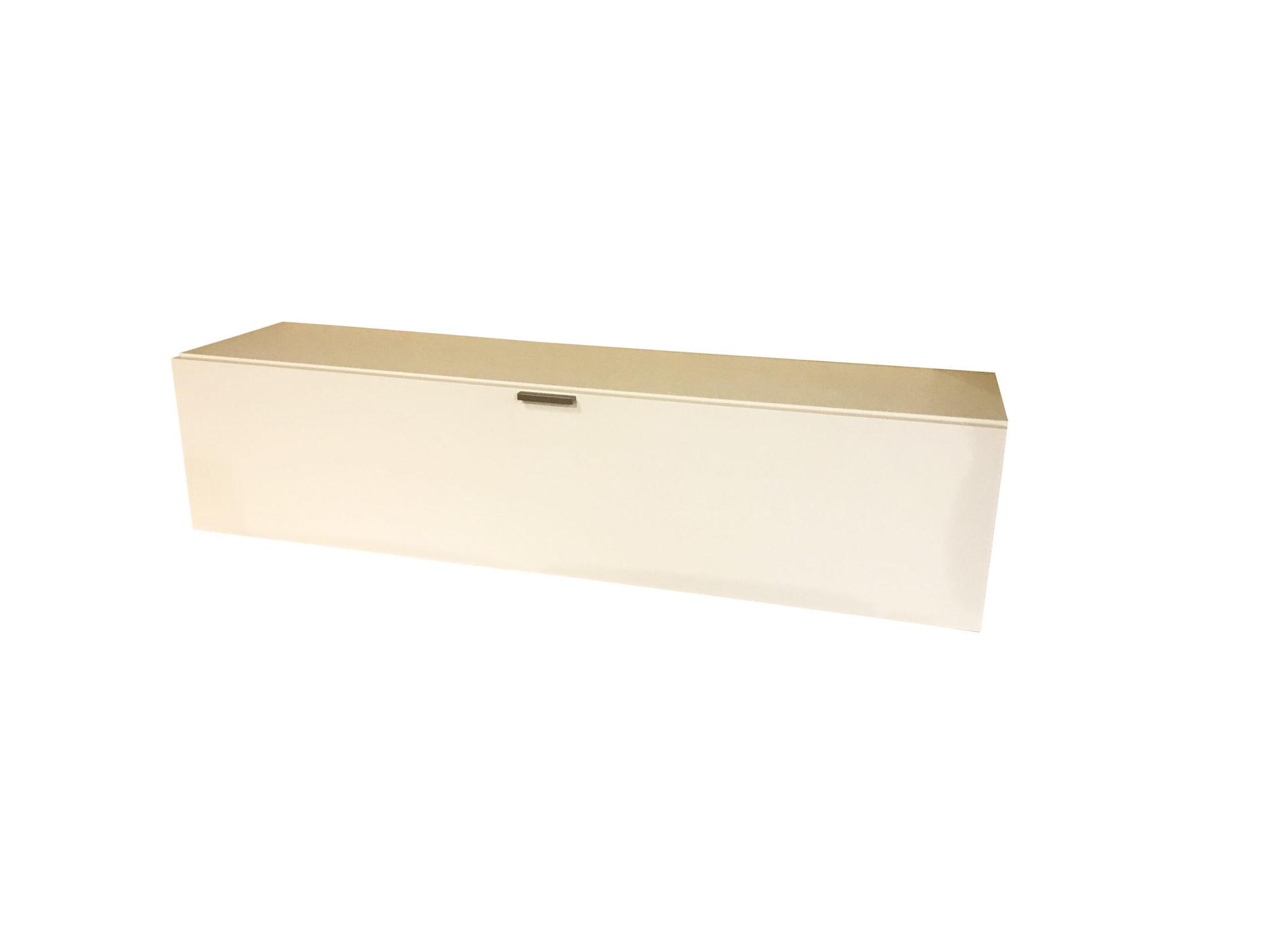 Hängeschrank in weiß als Ausstellungsstück im Abverkauf
