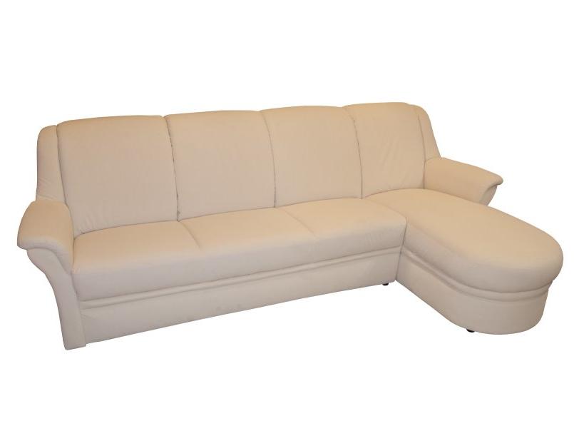 Sofa mit hellem Stoffbezug im Abverkauf