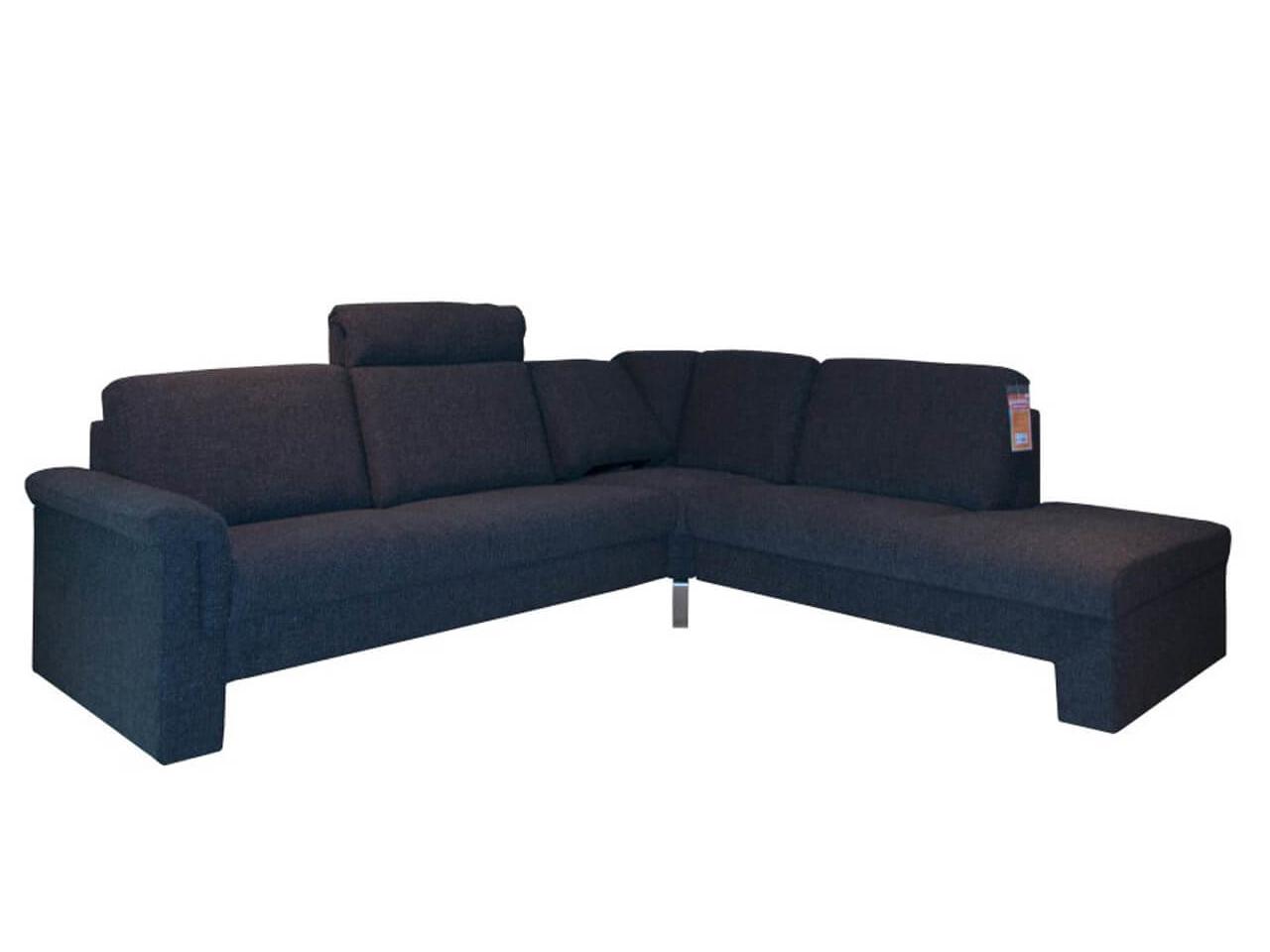 Ecksofa Select Plus mit dunkelgrauem Stoffbezug im Abverkauf