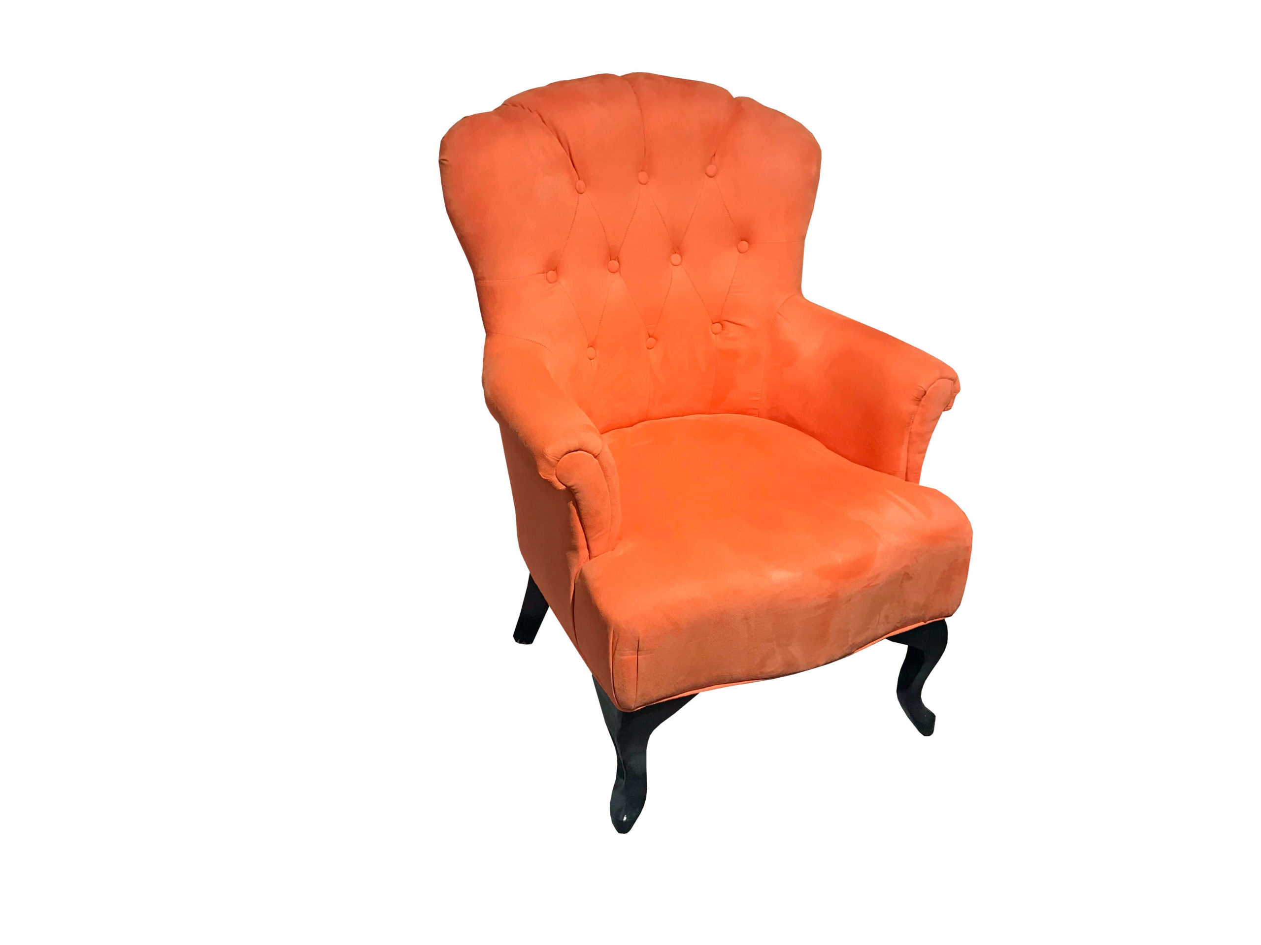 orangefarbener Sessel im Cafehaus-Stil zum Abverkaufspreis