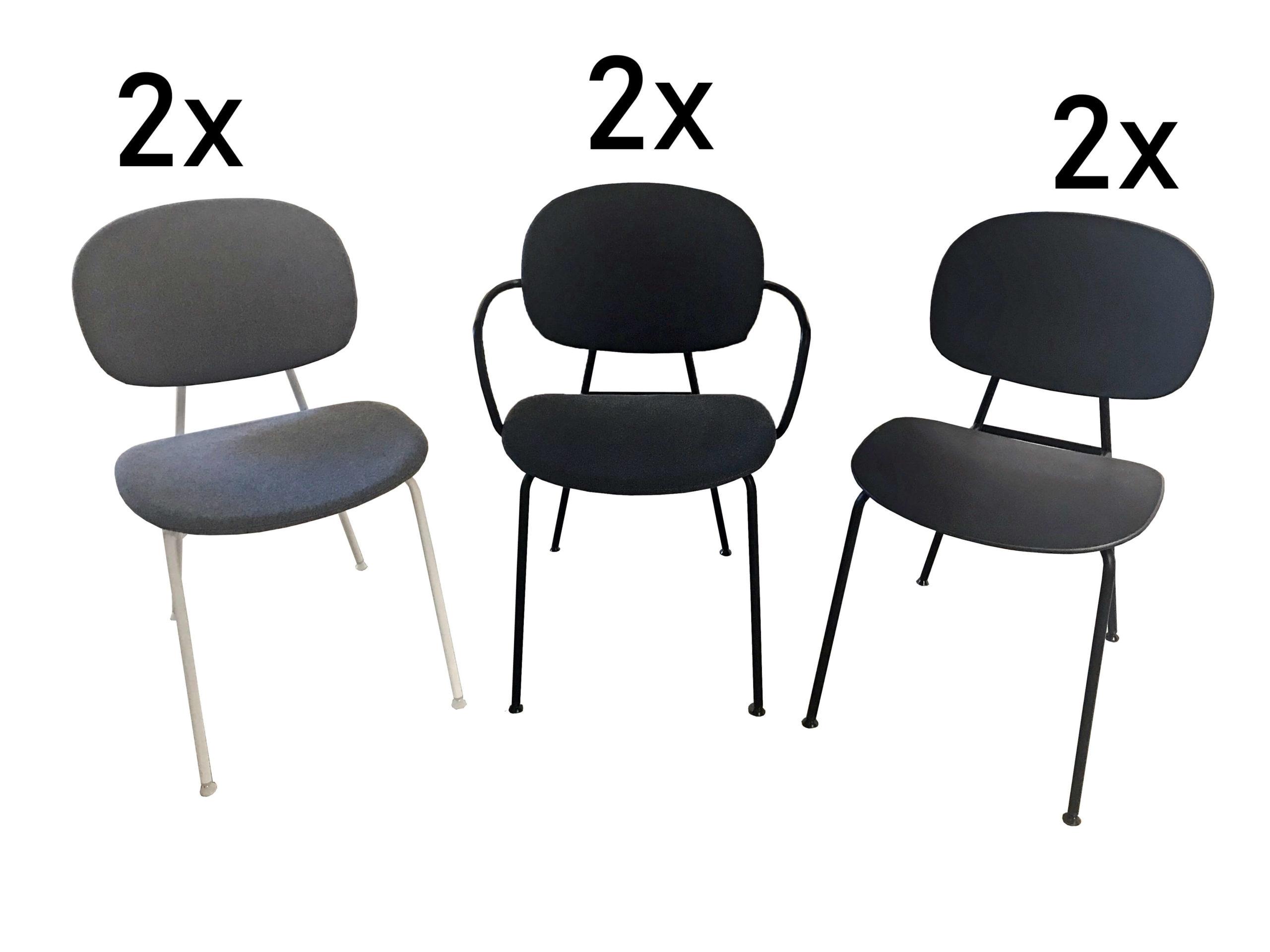 Stuhlset Raumfreunde Annika, moderne Stühle in grau und schwarz