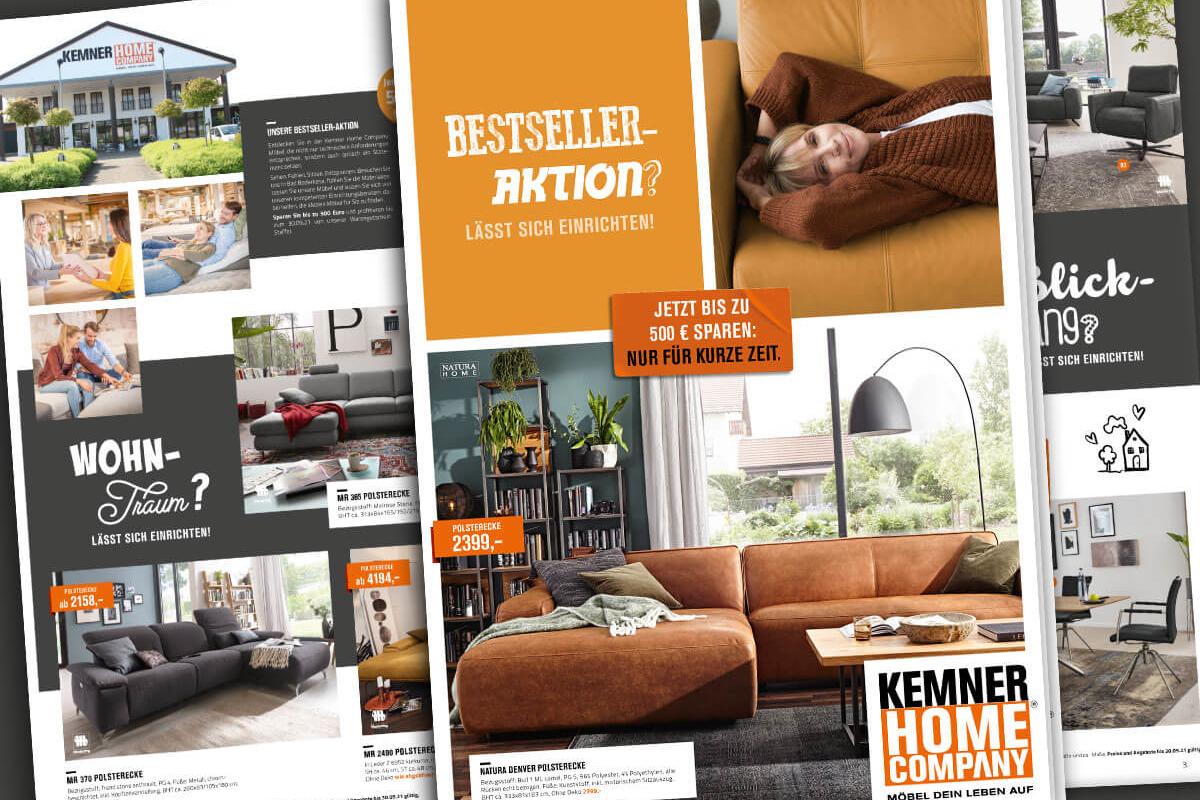 Kemner Home Company Prospekt Bestseller-Aktion